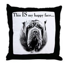 Neo Happy Face Throw Pillow
