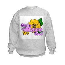 Girls Race Too! Sweatshirt