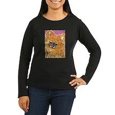 Long Haired Chihuahua Women's Long Sleeve Dark Tee