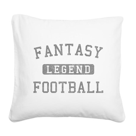 FANTASYFOOTBALLLEGEND copy.png Square Canvas Pillo