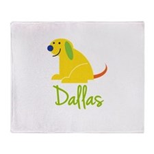 Dallas Loves Puppies Throw Blanket