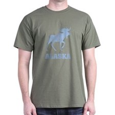 Retro Alaska Moose T-Shirt