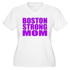 Hot Neon Purple Boston Strong Mom Plus Size T-Shir