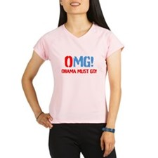 OMG Obama Must GO Peformance Dry T-Shirt