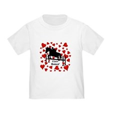 Fun Horse Jumper and Hearts T