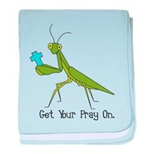 Get Your Pray On baby blanket