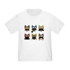 Cute owls with mustaches T-Shirt