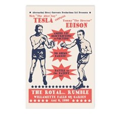 Tesla v. Edison Postcards (Package of 8)