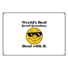 World's Best Great Grandma Humor Banner