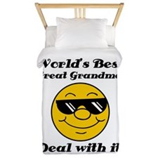 World's Best Great Grandma Humor Twin Duvet