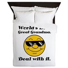 World's Best Great Grandma Humor Queen Duvet