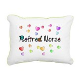 Retired Nurse Gingham hearts Rectangular Canvas Pi