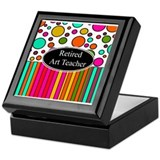RETIRED ART TEACHER 3 Keepsake Box