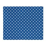 Blue flowers Throw Blanket