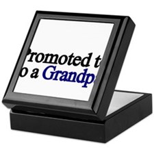 Promoted to a Grandpa Keepsake Box