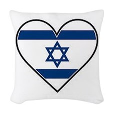 Israel Flag The Star Of David Woven Throw Pillow