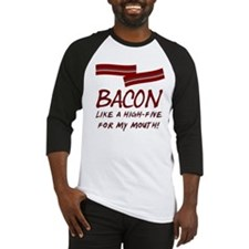 Bacon High-Five For Mouth Baseball Jersey