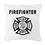 Firefighter Fire Dept Woven Throw Pillow