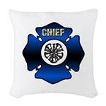 Fire Chief Gold Maltese Cross Woven Throw Pillow