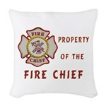 Fire Chief Property Woven Throw Pillow