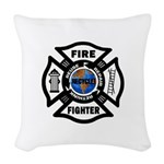 Firefighter Recycle Woven Throw Pillow