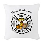 FF thanksgiving redone.png Woven Throw Pillow