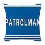 patrolman blues mousepad.jpg Woven Throw Pillow