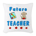 Future Teacher Woven Throw Pillow