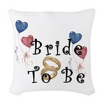 bridesto be2.png Woven Throw Pillow