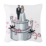 cake topper.png Woven Throw Pillow