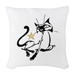 Siamese Cat Royalty Woven Throw Pillow