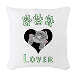 cat lover gray.png Woven Throw Pillow
