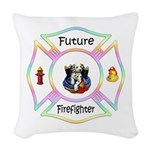 Future Firefighter Pastel Woven Throw Pillow