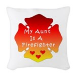 Firefighter Aunt Woven Throw Pillow