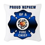 Proud Nephew Redone.png Woven Throw Pillow