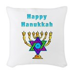 Happy Hanukkah Woven Throw Pillow