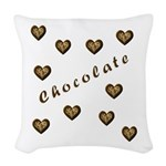 chocolate.png Woven Throw Pillow