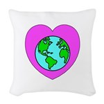 Love Our Planet Woven Throw Pillow