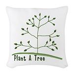 Plant A Tree Woven Throw Pillow