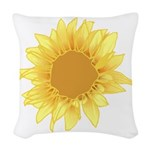 Sunflower Elegant Woven Throw Pillow