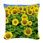 Sunflowers Woven Throw Pillow