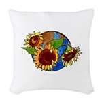 Sunflower Planet Woven Throw Pillow