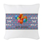 balloonstripeothill.png Woven Throw Pillow