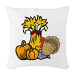 thanksgiving central redone.png Woven Throw Pillow