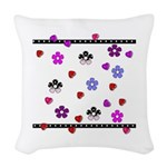 Hearts and Flowers.jpg Woven Throw Pillow