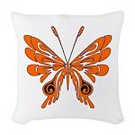 butterfly high.png Woven Throw Pillow