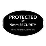 9mm Security Oval Decal