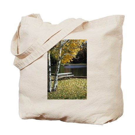 Picnic Table Tote Bag