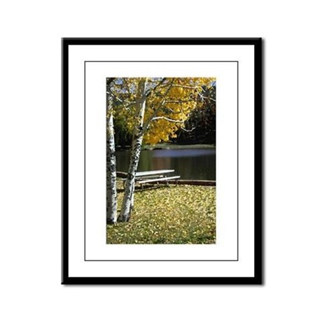 Picnic Table Framed Panel Print