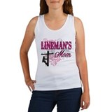 linemans mom white shirt with pole Tank Top